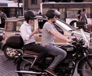 motorcycle phone distraction
